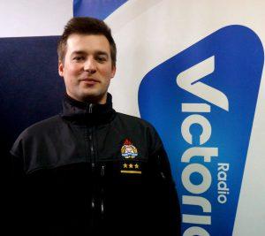 Bartłomiej Wójcik Oficer Prasowy Komendy Miejskiej Państwowej Straży Pożarnej w Skierniewicach