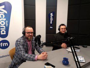 Grzegorz Ambroziak Burmistrz Żychlina i Michał Adamski Naczelnik Wydziału Kultury, Promocji i Rozwoju Miasta Kutno